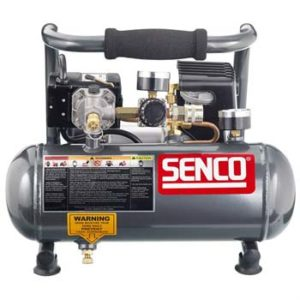 Senco PC1010 1-Horsepower Peak, 1:2 hp running 1-Gallon Compressor