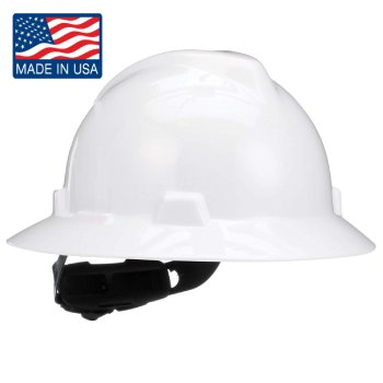 MSA 475369 V-Gard Slotted Full-Brim Hard Hat (1)